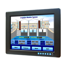 "Advantech FPM-3121G 12.1"" SVGA Industrial Monitor with Resistive Touchscreen, Direct-VGA, DVI and Wide Operating Temperature"